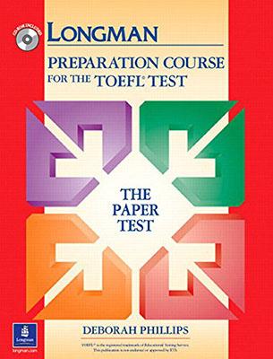 Longman Prepation Course Toefl Test جلد قرمز همراه با سي دي