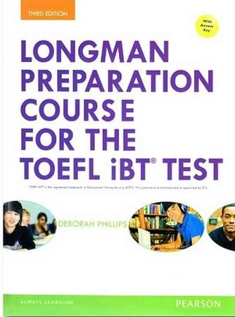 Longman Toefl ibt Test Preparation ويرايش سوم جلد سخت همراه با سي دي