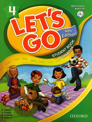 Lets Go 4 ويرايش چهارم رنگي همراه با سي دي رحلي
