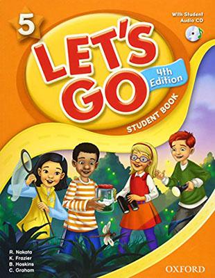 Lets Go 5 ويرايش چهارم رنگي همراه با سي دي رحلي
