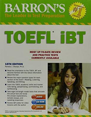 TOEFL IBT BARRONS 15TH +DVD گالينگور