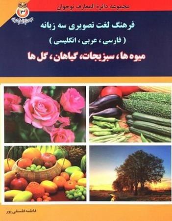 فرهنگ لغت تصويري سهزبانه: فارسي، عربي، انگليسي (ميوهها، سبزيجات، گياهان، گلها)