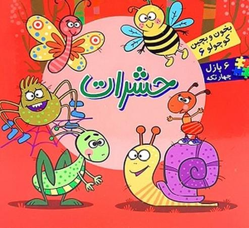 كتاب پازل حشرات (بخون و بچين كوچولو 6)