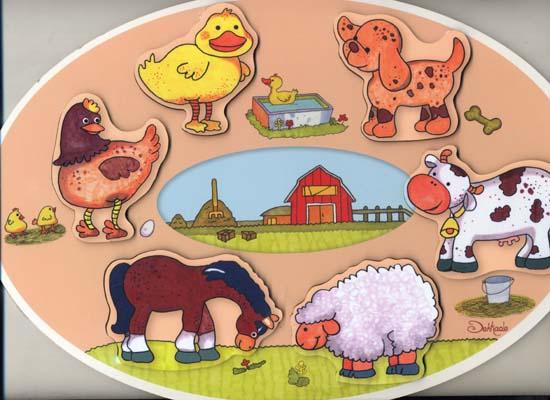 پازل-چوبي-حيوانات-مزرعه