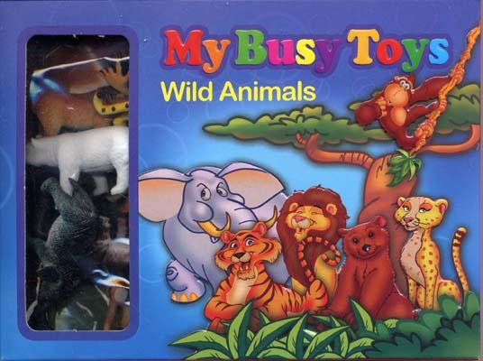 بسته-12تايي-حيوانات-وحشي-(2---آبي)(My-Busy-Toys)