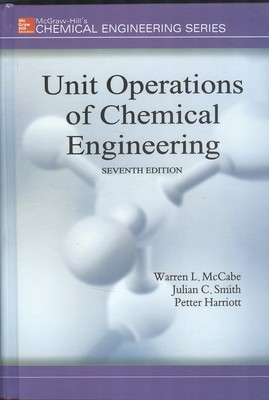 unit operations of chemical engineering (mccabe) edition 7 صفار افست