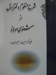 تصویر شرح منظوم دفتر اول از مثنوی مولانا