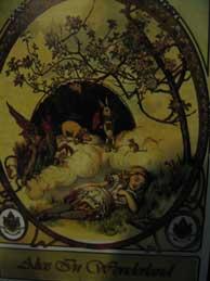 تصویر آلیس در سرزمین عجایب جعبه فلزی جیبی