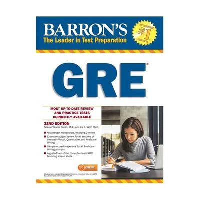 تصویر Barrons GRE 22nd Edition CD