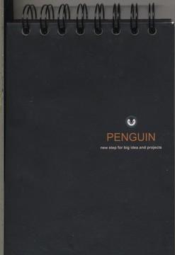 دفترچه-يادداشت(مشكي-پالتويي-سيمي)