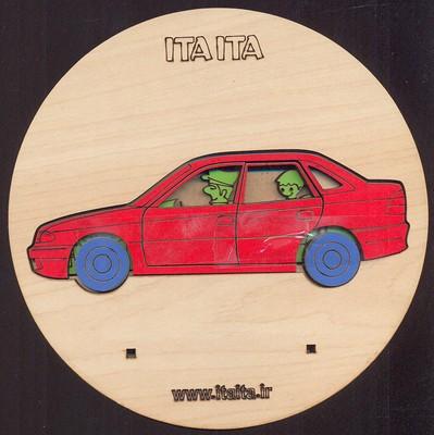 پازل-چوبي-طبقاتي-ماشين