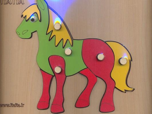 پازل-چوبي-اسب