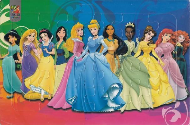 پازل پشت وايت بوردي شاهزاده خانم ها