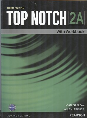 (TAP NOTCH 2A with work book (saslow