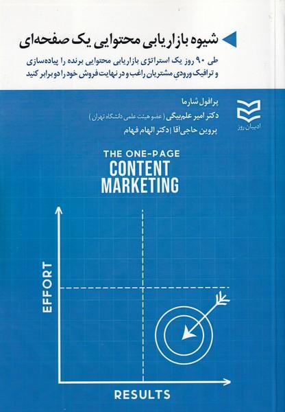 شیوه بازاریابی محتوایی یک صفحه ای شارما (علم بیگی) ادیبان روز