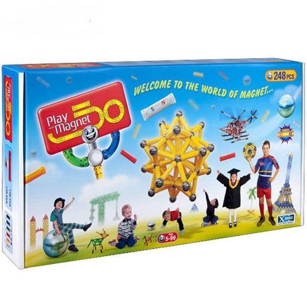 play-with-magnetبازي-مگنت248قطعه