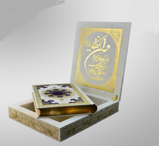 =قرآن-(هليا)-عثمان-طه-وزيري-جعبه-دار-چوبي-سفيد-قمشه-اي-166