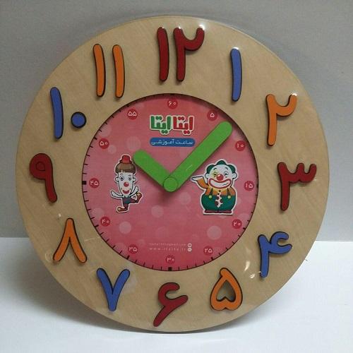 ساعت-آموزشي(ايتاايتا)چوبي