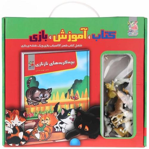 كتاب،-آموزش،-بازي---بچه-گربه-هاي-ناز-نازي-(سايه-گستر)-جعبه-اي-همراه-با-اسباب-بازي
