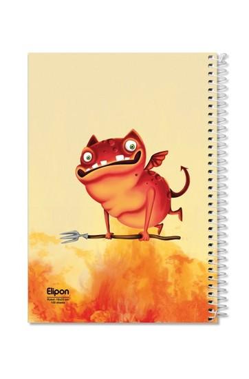 اليپون---دفتر-مشق-100-برگ-وزيري-سيمي-مجلد-جلد-نرم-فانتزي-تك-خط-2413270