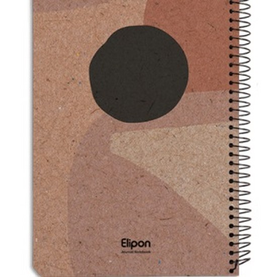 اليپون---دفتر-يادداشت-100-برگ-رقعي-سيمي-جلد-سخت-كلاسيك-تك-خط-2756867