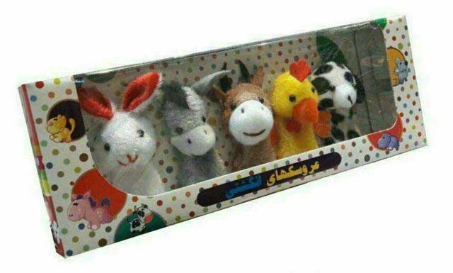 عروسكهاي-انگشتي-حيوانات-(پرشين)-جعبه-اي