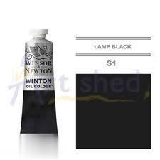 رنگ روغن WINSOR 1414337 37ml Lamp Black 25
