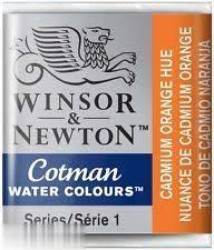 آبرنگ قرصي WINSOR 301090 Cadmium Orange Hue 090