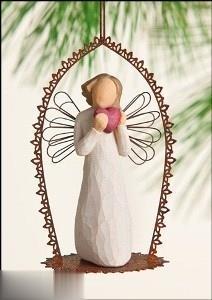 Angel of the Heart Trellis Ornament 26258