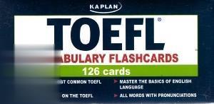 TOEFL Vocabulary Flashcards Kaplan 120 Cards