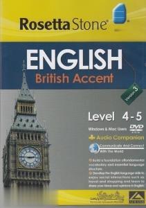 آموزش زبان انگليسي Rosetta Stone English British Accent Level 4-5
