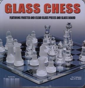 شطرنج كريستال جعبه فلزي (Chess)