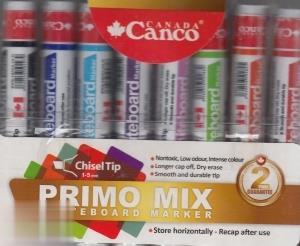 ماژيك وايتبرد 8 عددي نوك تخت رنگي Canco Primo Mix 22B