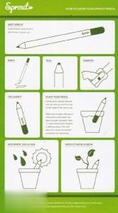 مداد سبز Sprout