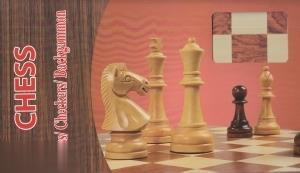 شطرنج چوبي بزرگ جعبه قهوهاي (3 در 1) (Chess)