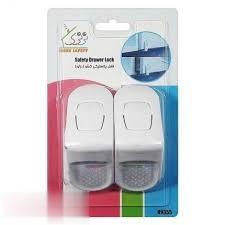 قفل پلاستيكي كشو 2 عددي سفيد N9355