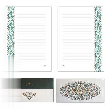 پاكت ملخي با كاغذ A4 خطدار ستوده PE014