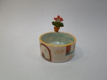 ظرف استوانه سايز 1 با گلدان هره
