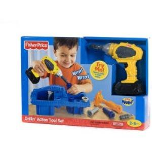 Fisher Price Drillin' Action Tool Set 9698