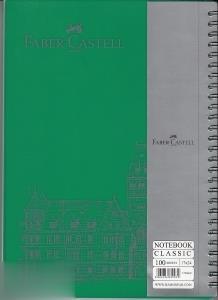 دفتر 100 برگ سيمي وزيري كلاسيك FABER CASTELL 000003
