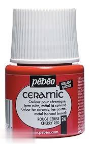 رنگ سراميك Pebeo 025024 Cherry Red 45ml