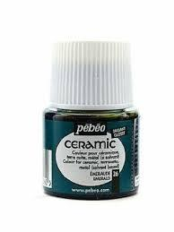رنگ سراميك Pebeo 025026 Emerald 45ml