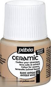 رنگ سراميك Pebeo 025032 Antique White 45ml