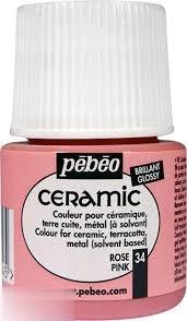 رنگ سراميك Pebeo 025034 Pink 45ml