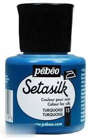رنگ پارچه ابريشم Pebeo 181015 45ml Turquoise 15