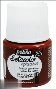 رنگ پارچه مات Pebeo 295014 45ml Velvet Brown 14