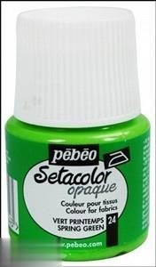 رنگ پارچه مات Pebeo 295024 45ml Spring Green 24