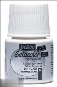 رنگ پارچه مات Pebeo 295044 45ml Shimmer Pearl 44