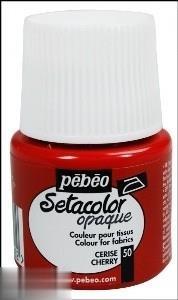 رنگ پارچه مات Pebeo 295050 45ml Cherry 50