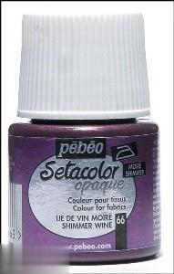 رنگ پارچه مات Pebeo 295066 45ml Shimmer Wine 66